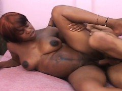 Big titted Eboyn slut gets fucked hard by a big black dick