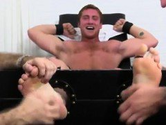 Young gay foot fisting Connor Maguire is the flawless catch