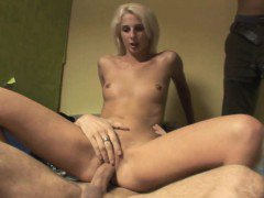 Cuckolding gf fucked hard in front of her bf