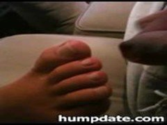 Guy has an intimate moment with GFs foot