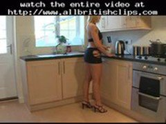 British Interracial Fuck In The Kitchen  british euro brit european cumshots swallow