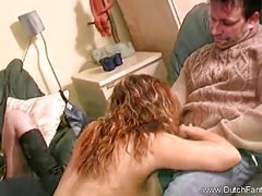 redhead babe is rubbing her cunt in close up pov