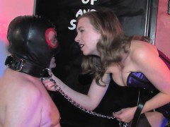 Femdom demands submissive to suck cock