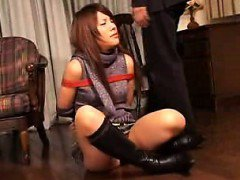 Helpless Japanese beauty has a guy shoving his stiff rod in
