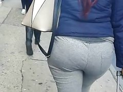 Black Chick With Big Booty In Grey