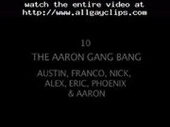 The Aaron Gang Bang  gay porn gays gay cumshots swallow stud hunk
