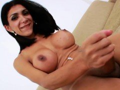 Big tits brunette Sabrina using sex toy for pleasure