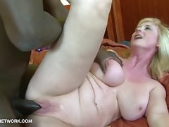 Big Tits Granny Black Cock Cumshot On Boobs After Fucking