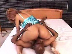Ebony hottie with a heavenly ass has a black guy devouring