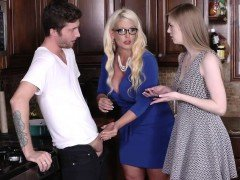Big fat blonde bad milf Alura Jensen takes control