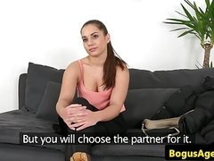Euro casting babe fucked doggystyle until cum