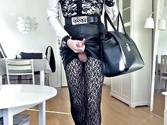 Sissy Hot Sexy Leather Skirt