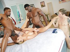Olivia Austin Interracial Threesome - Cuckold Sessions