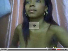 Stunning Ebony Teen Masturbates On Her Webcam