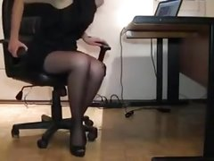 Angry boss attack his secretary