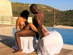 African Ebony Couple Workout Sex