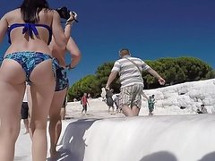 tourist Russian tight asses in bikinis candid-2