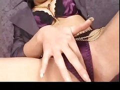 japanese girl with long nails