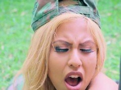 Military Chick Desiree Lopez Gets Fingered By Boss