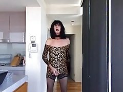 Slutty leopard print mini cum job