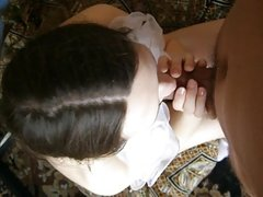 !00% Amateur Russian Filmed with my Phone giving the best bj