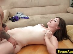 English casting babe fucked by midget agent