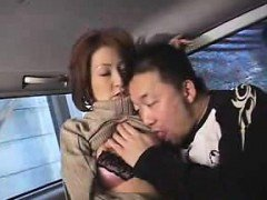 MILF makes out and gets felt up before he goes for her hone