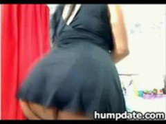 Stunning latina dancing and teasing