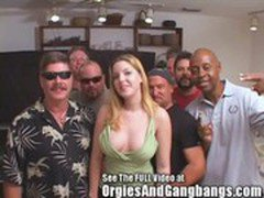 Candi Apple's Interracial Blow Bang-a-Thon