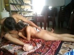 Desi Student Amritha Shy Indian first time