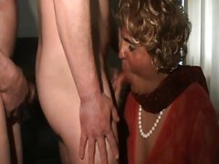 mature blows two guys