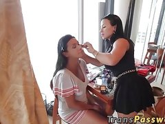 TS porn behind the scenes with hot shemale Vaniity