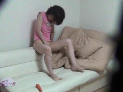 Asian teen solo fingering