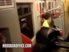 black hood ghetto Caught Fucking on the train