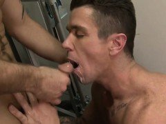 Big dick son anal sex and facial