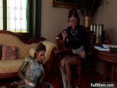 Two hot Euro babes love wam food fights