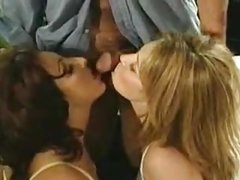 Two horny women and a lucky guy