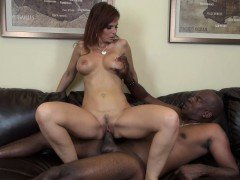 Big breasted redhead mom Syren De Mer goes crazy for a huge black rod