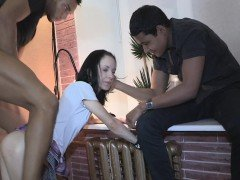 Cheating euro gf banged by black cock