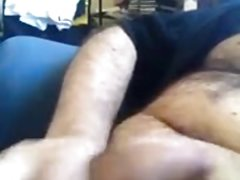 Wanking and cumming in slow motion (tight foreskin phimosis)