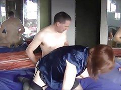 Cross dresser fucked on the bed