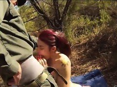 Red hair babe gets fucked to smuggle goods at the border