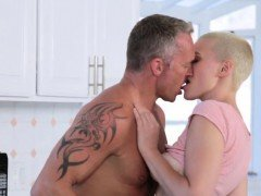 Dad cams comrade's daughter bathroom and watches mom black F