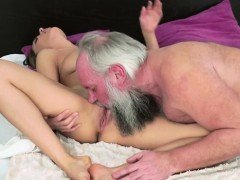 Big tits Dominica Fox is licked and gets fucked a by grandpa