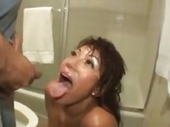 Hot Pissing Action Pissed In Her Ass And On Her Face