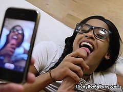 Ebony Babe Princess Yummy Blows Roommates Big Cock