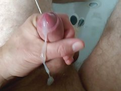 Slow Motion Cum Shot Tied & Pegged Balls Thick Cum