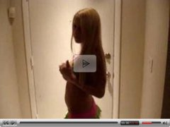 Big Tit Teen Blonde Dancing and Stripping