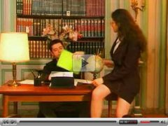 Boss fucking his mature secretary at office
