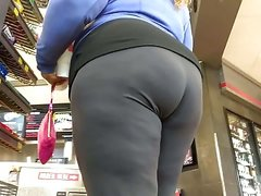 BBW ass vs whooty wedgie in shorts (2 for 1)